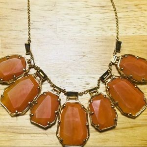 Burnt Orange Kate Spade Statement Necklace